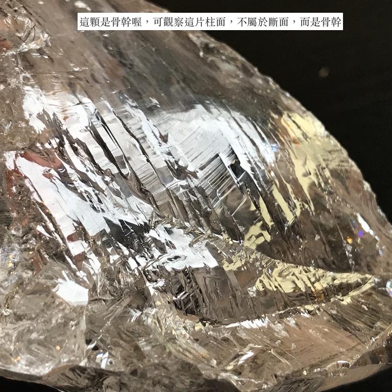 喜馬拉雅水晶骨幹 (骨幹紋跟敲傷貝殼斷面有何不同?)