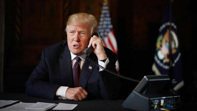 """Trump reitera por teléfono su """"respaldo"""" al golpista Guaidó"""