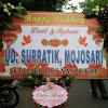 Papan Bunga Wedding UD Supratik Mojosari