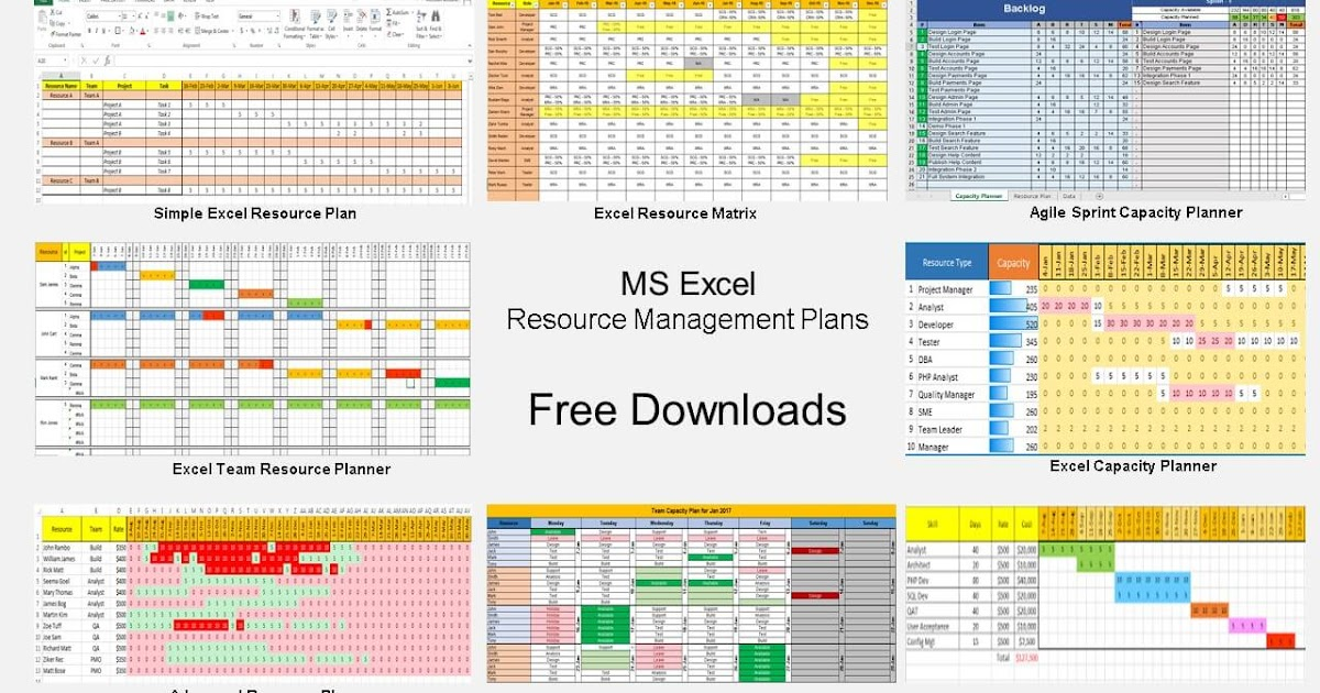 Resource Management using Excel  9 Free Template Downlaods