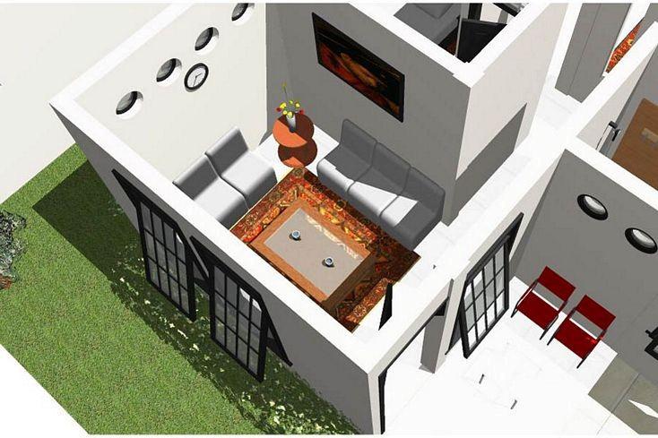 Gambar Pola Denah Rumah Dilihat Dari Atas