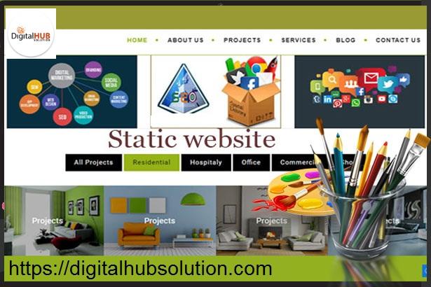 static website design company