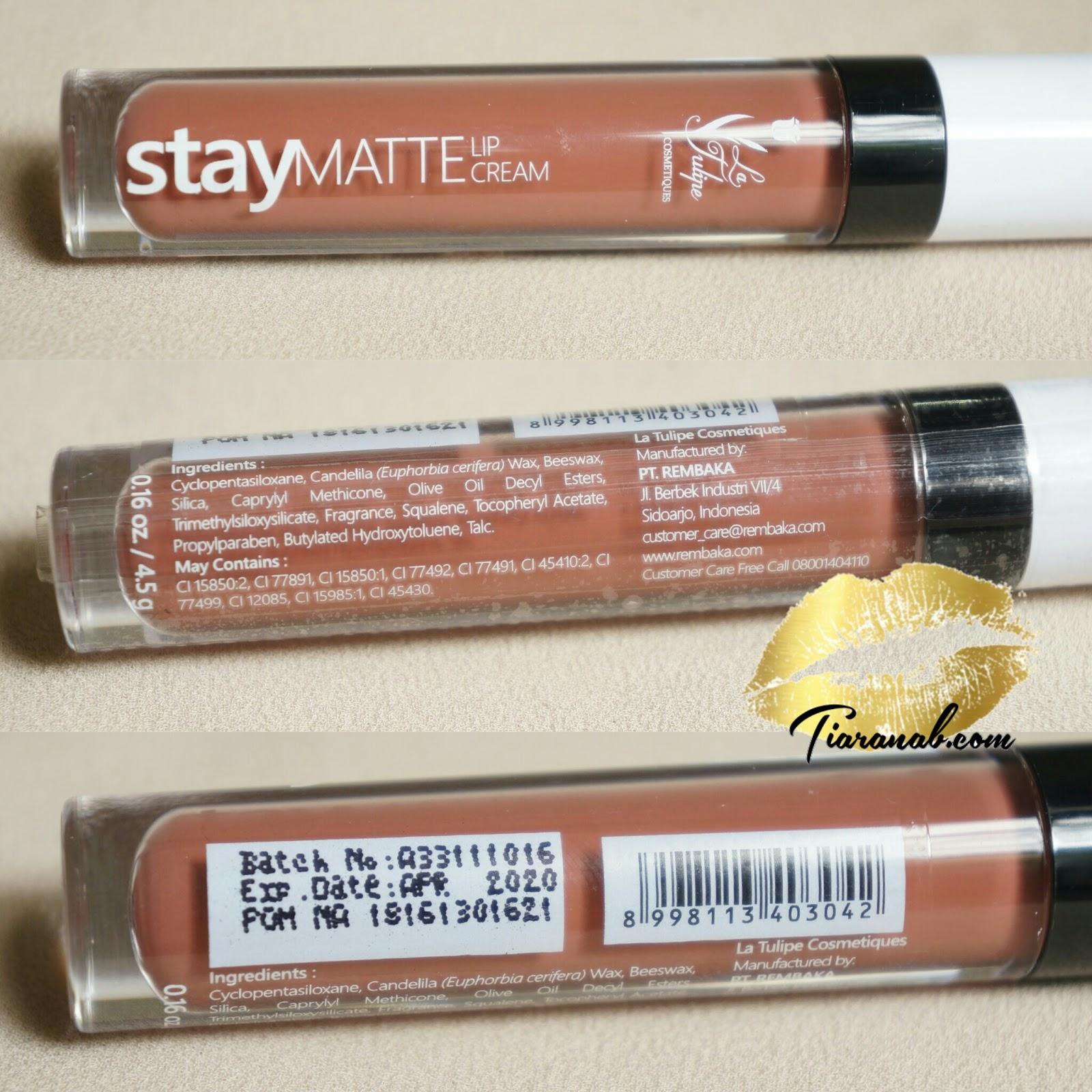 [Honest Review] La Tulipe Stay Matte Lip Cream   Tiaranab