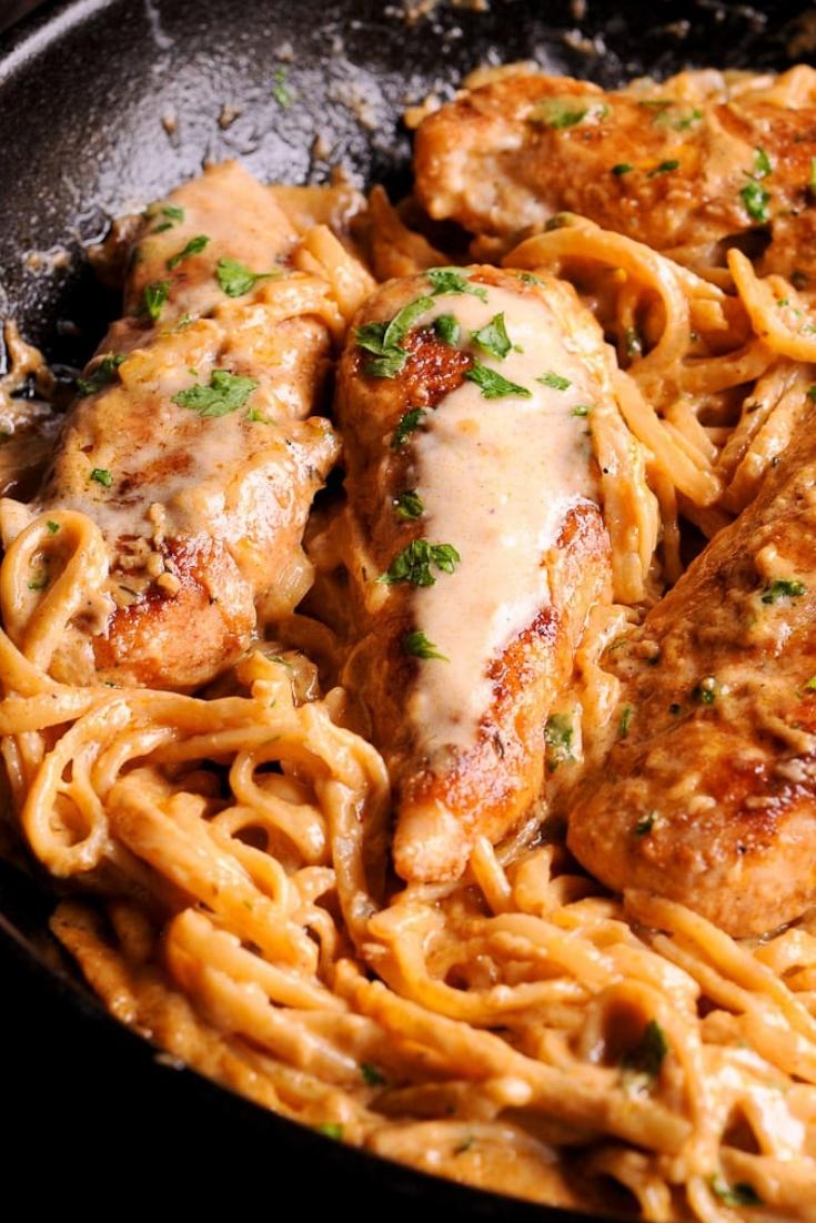 Spicy Chicken Tender Lazone Pasta