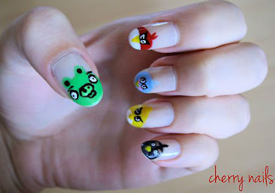 Angry Birds Nail Art Designs