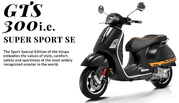 Spesifikasi dan Harga Vespa GTS 300 i.e. Super Sport Special Edition USA