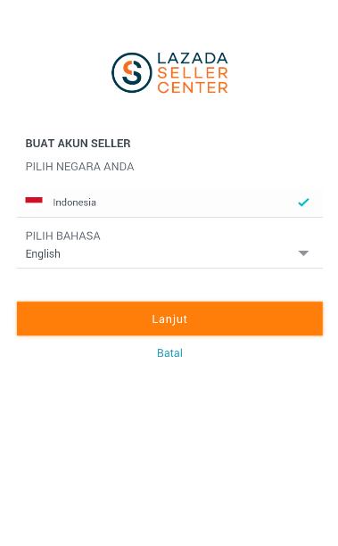 Pilih bahasa lazada seller center
