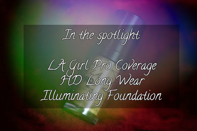 LA Girl Pro Coverage HD Long Wear Illuminating Foundation.