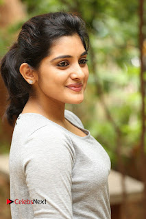 Actress Niveda Thomas Pictures in Black Jeans at Gentleman Movie Interview  0052