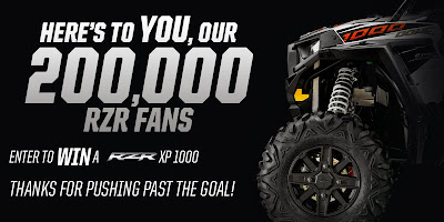 Enter to win a RZR XP 1000
