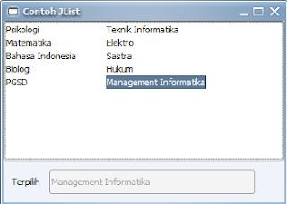 Cara Membuat JList di Java Swing