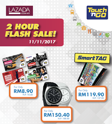 Smart Tag Touch 'n Go Card Lazada Malaysia Flash Sale Discount Offer Promo