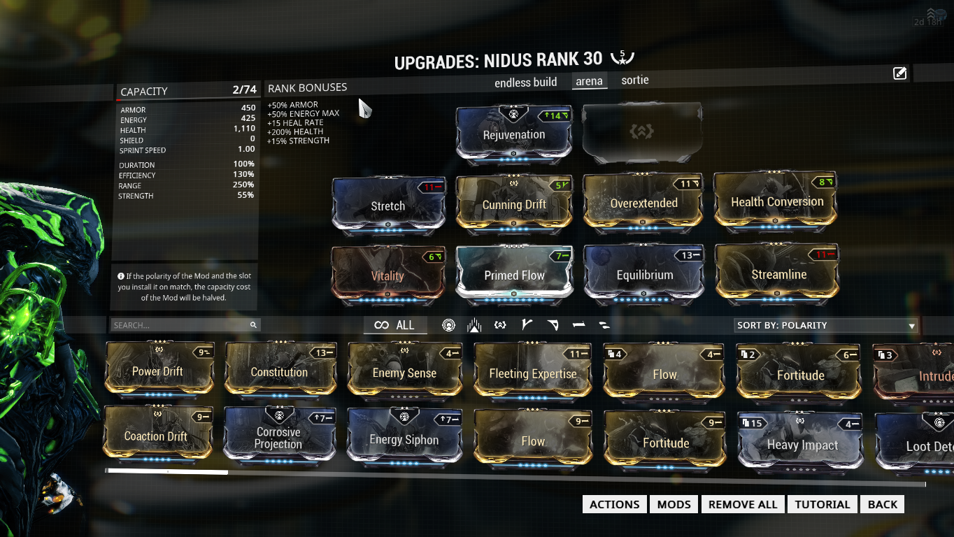 warframe builder nidus