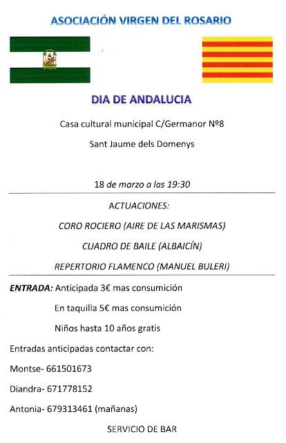 Esguard de Dona - Día de Andalucía en Sant Jaume dels Domenys, sábado 18 de marzo de 2017