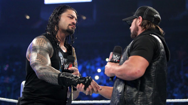 Roman Reigns et AJ Styles seront bientôt adversaires pour le WWE World Heavyweight Championship