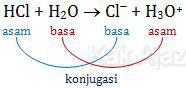 Contoh asam dan basa konjugasi menurut Bronsted-Lowry