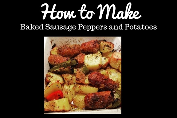 this is a classic meal made with sausage, peppers and potatoes baked in the oven. A traditional meal mom made who was right from Italy. How to make Italian sausage, peppers and potatoes recipe.