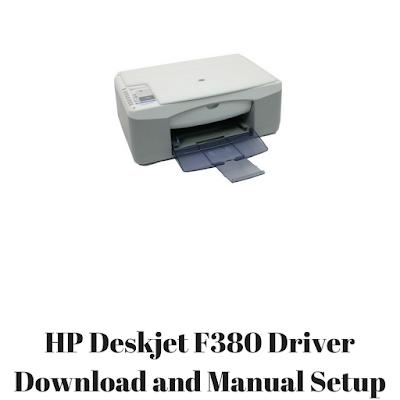 HP Deskjet F380 Driver Download and Manual Setup