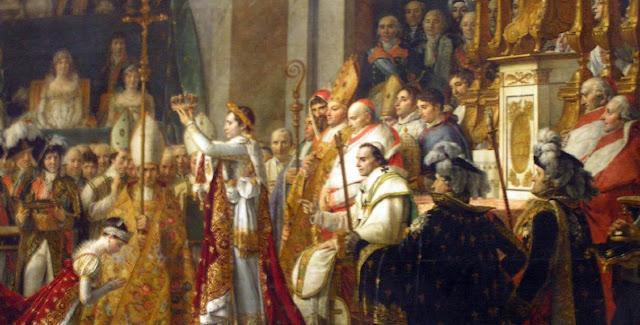 Napoleon Bonaparte y Josefina en la coronacion
