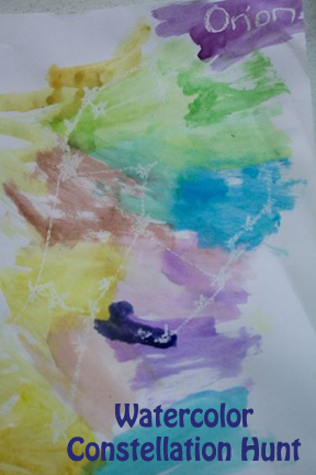 Create a Hands-on Astronomy Activity with Crayons and Watercolors