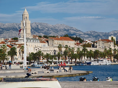 South walls of Diocletian's palace - waterfront in Split Croatia