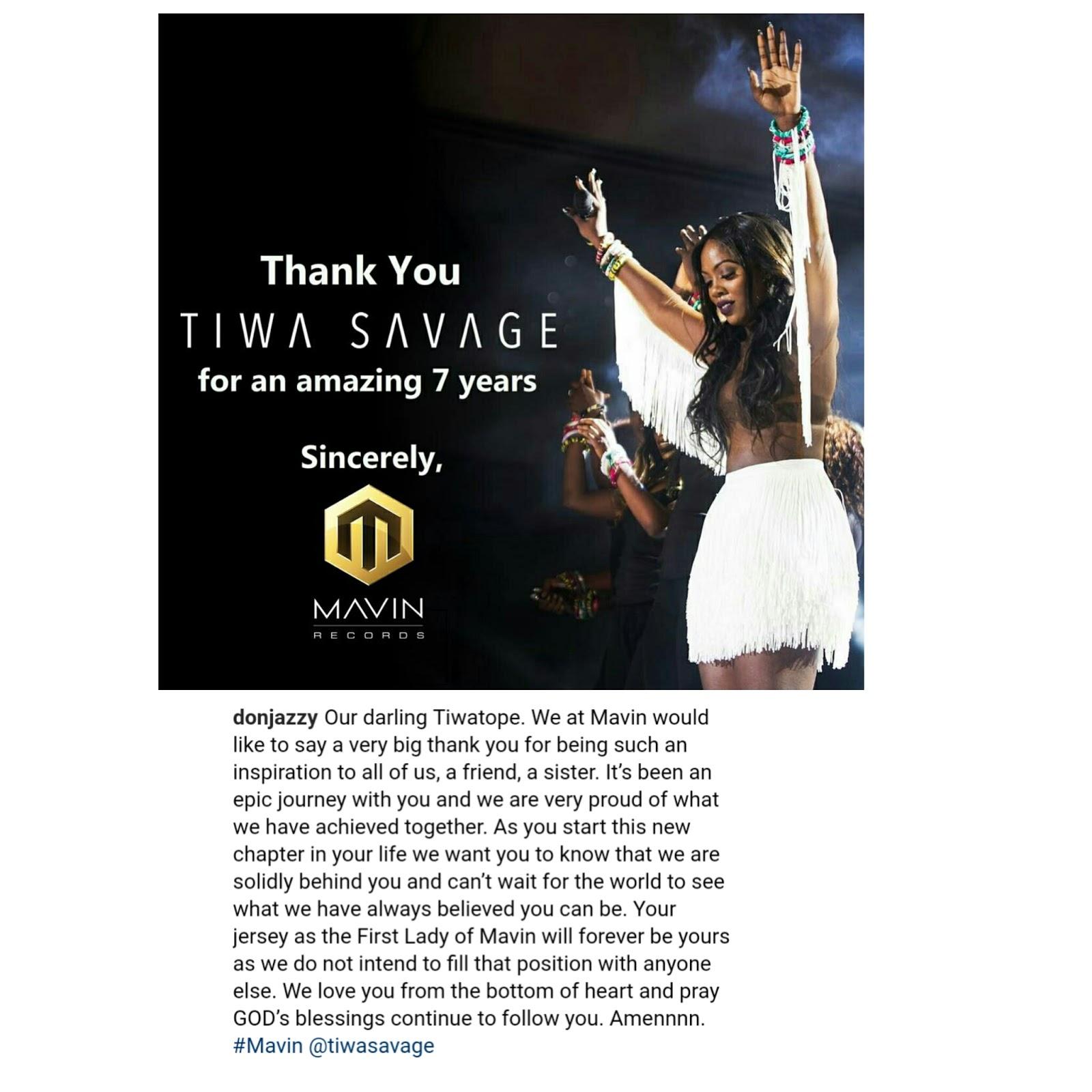 BlogbyTemmytems: Tiwa Savage Retires From Mavin Records