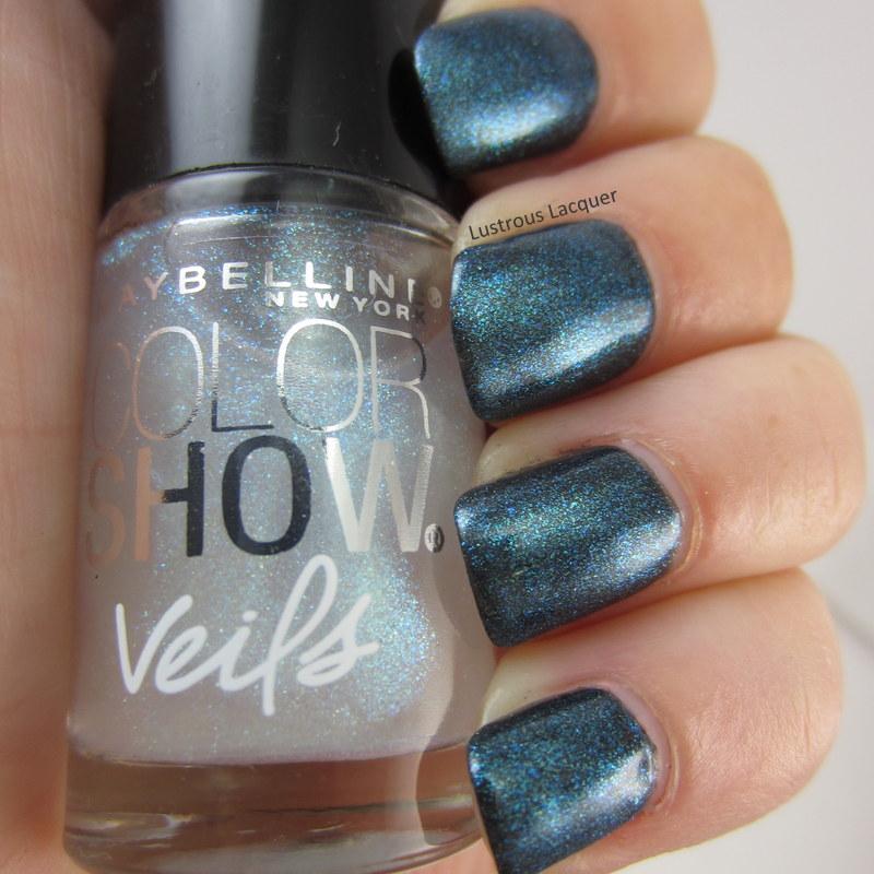 Blue-shimmer-nail-polish