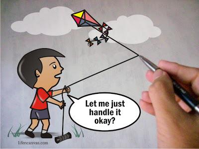 kite boy hand