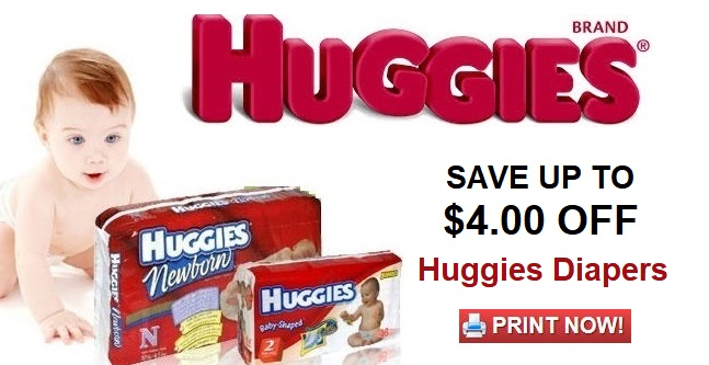 Huggies Diaper Coupons | Save up to $4.00 off - PRINT NOW