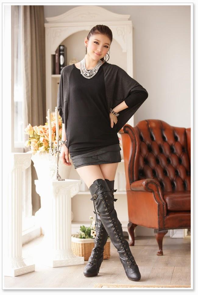 Trend Baju Korea Terbaru Dress Korea Musim Semi Warna Hitam