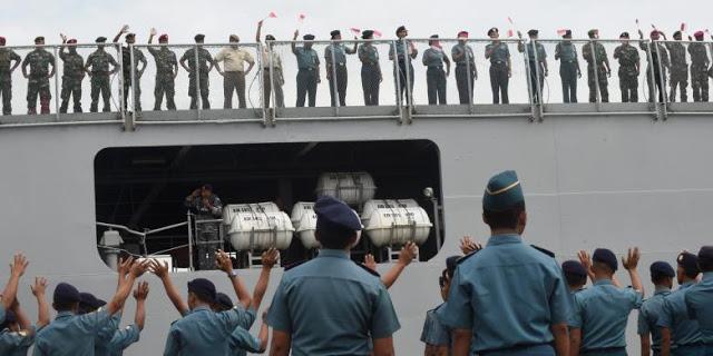 Posisi Kapal TNI AL Saat Kapal KKP Berkonflik dengan Kapal China di Natuna