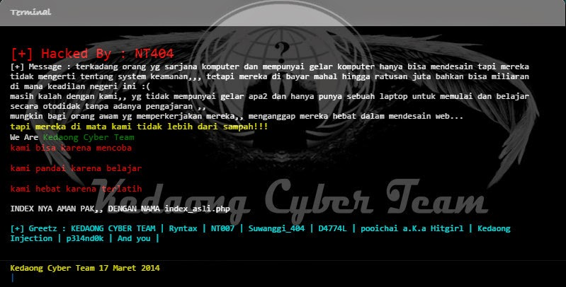 Website MPR Diserang Hacker NT404