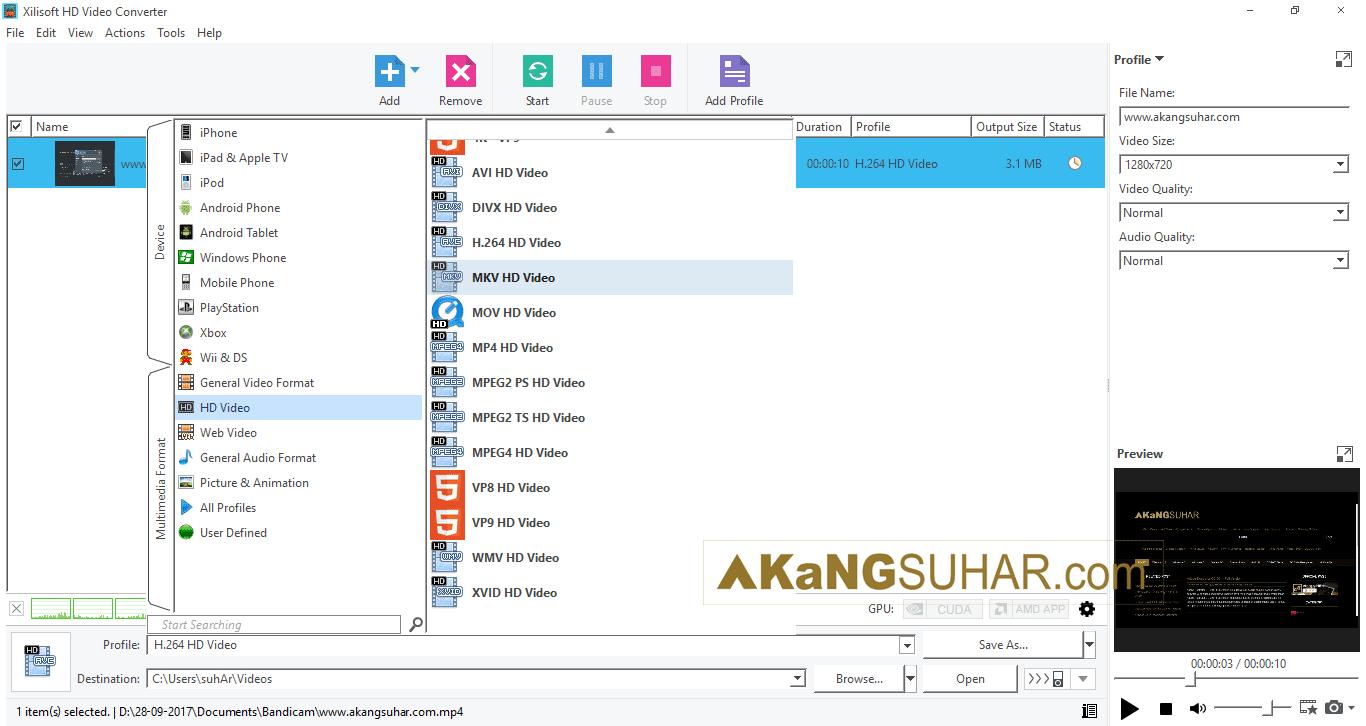 Free download Xilisoft HD Video Converter 7 final full version terbaru gratis serial number patch keygen crack license key activation code for windows www.akangsuhar.com