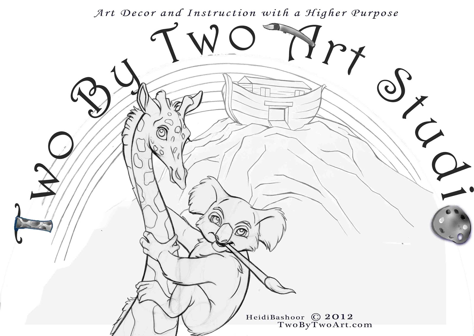 Two By Two Art Studio: Free Drawing Lesson Coloring Contest