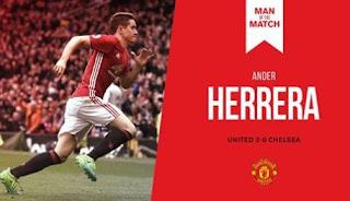 Ander Herrera Man of the Match MU vs Chelsea