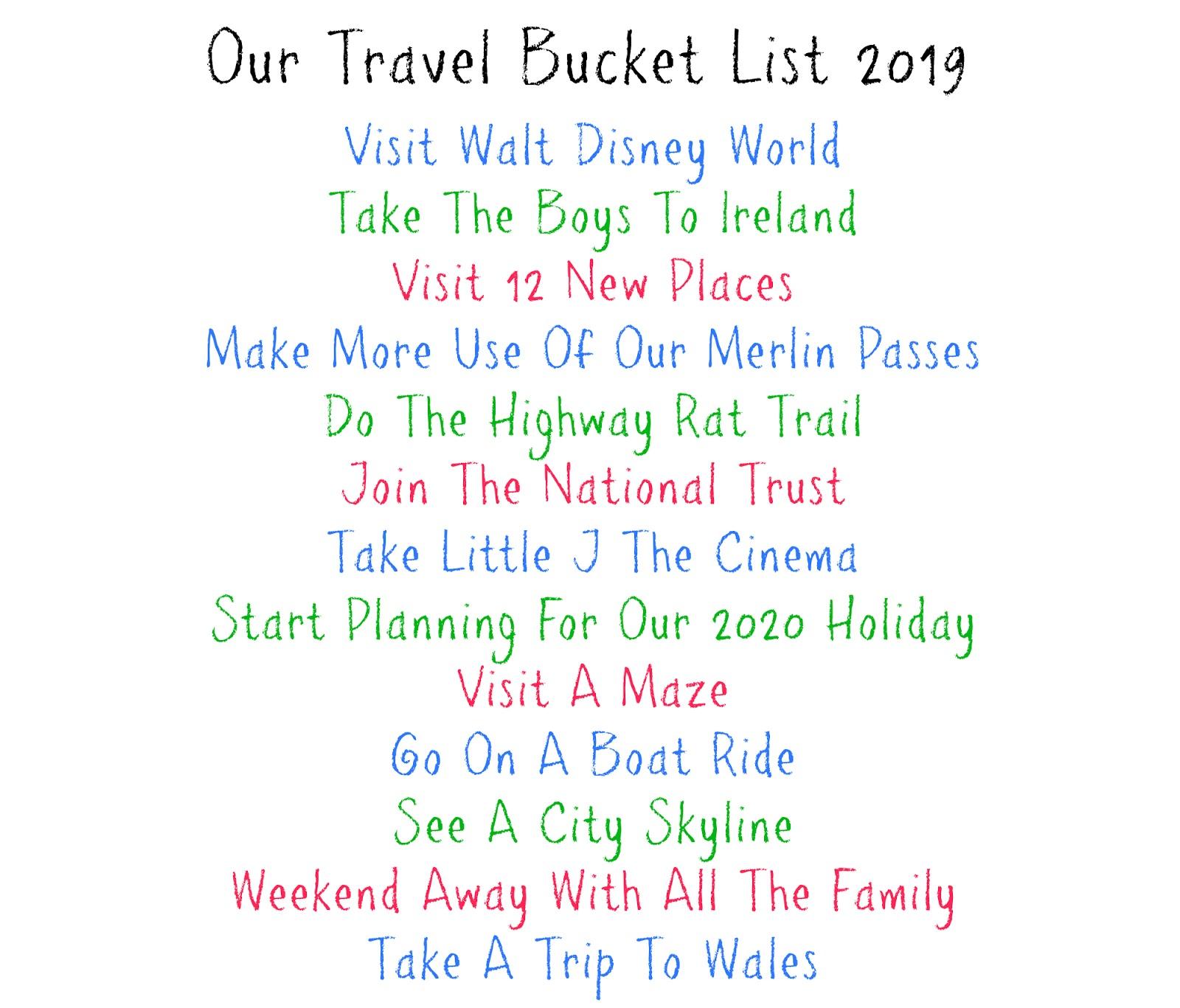 Bucket List 2020.Our 2019 Bucket List Playdays And Runways