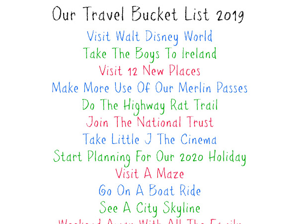 Our 2019 Bucket List