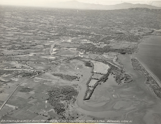 Another shot of the proposed airfield for Taal and Lemery in 1935.  Image source: United States National Archive.