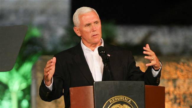 Mike Pence defends Donald Trump's military threat against Venezuela