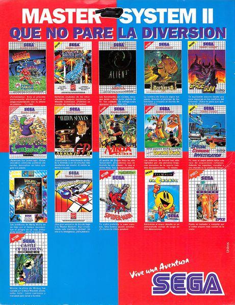 Arcade Smash Hits Sega Master System Abandonteca Retroinvaders