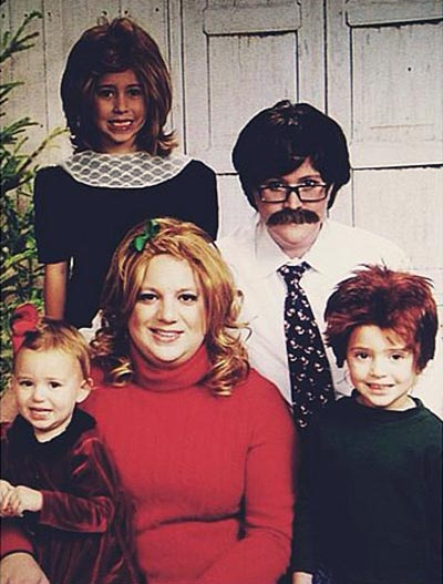 Crossdressed family Christmas card!