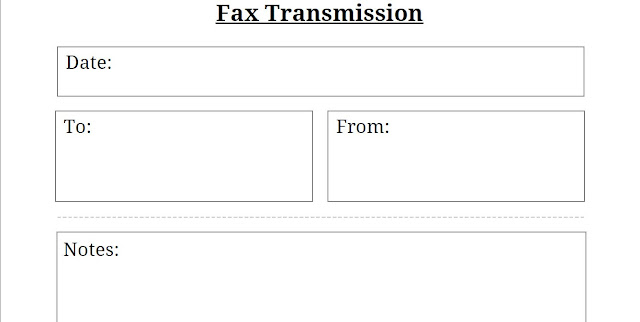 Free Fax Cover Sheet Template | PDF Excel Word
