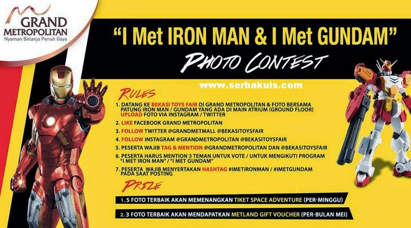 Kontes Foto I met Iron man & I met Gundam Berhadiah