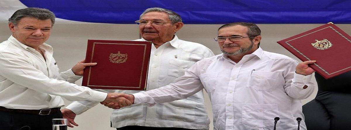 FARC firman acuerdo de paz
