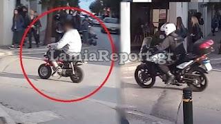 Λαμία: Νεαρός πάνω σε μηχανάκι «μπόμπος» ξεφεύγει άνετος από την αστυνομία