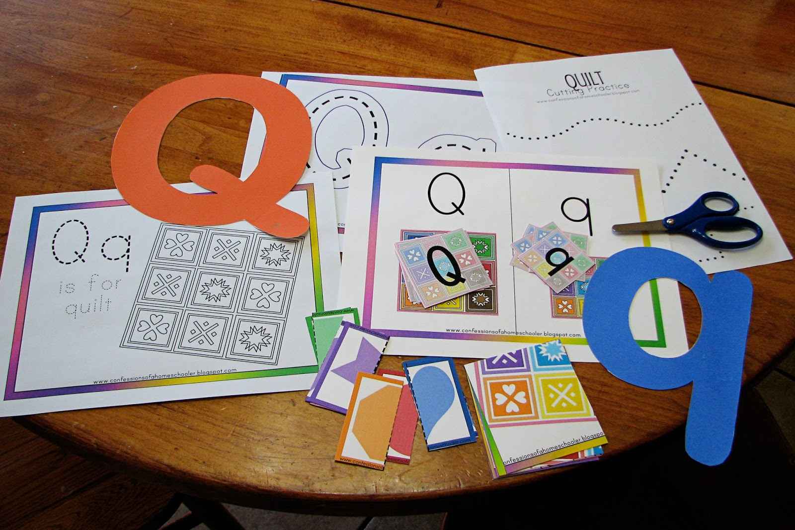 Mommy S Little Helper Letter Q Quilt Preschool Theme