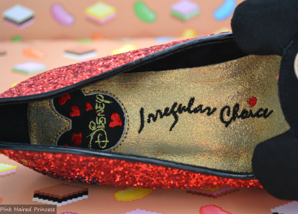 disney irregular choice branded insole detail
