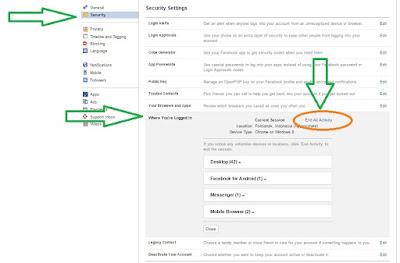 cara mengetahui acount facebook terkena hacker