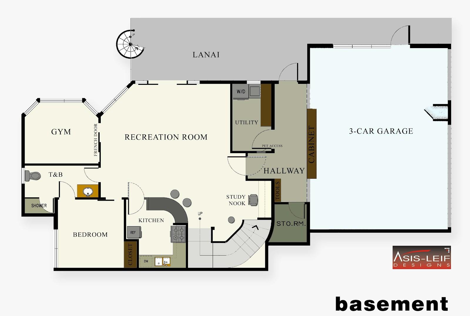 Basement Floor Plans Ideas - House Plans | 1849
