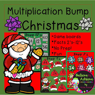 Multiplication Bump with Christmas Theme